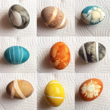 bougie hippie Easter eggs