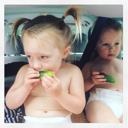 Toddlers Eating Cukes