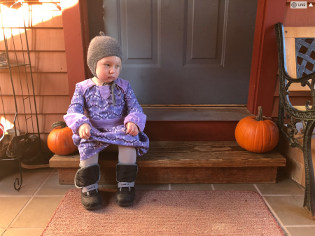Toddler w pumpkin