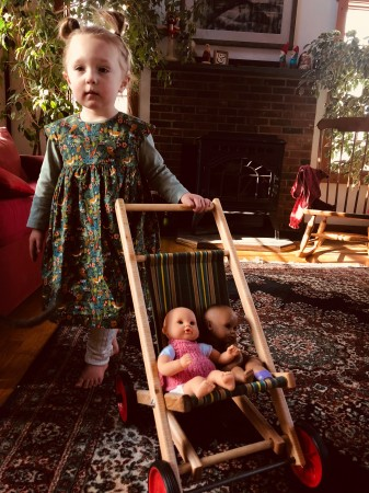 Super cute doll stroller that I highly recommend you do not attempt to buy.