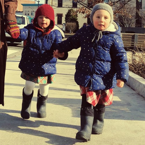 Never in a million years would they hold hands on the street like this for Mama.